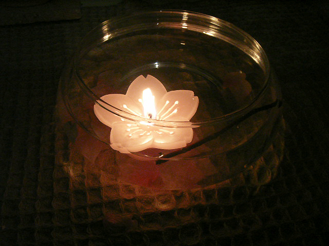 Floating Sakura candle
