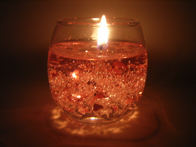 Stone Glow Crystal Clear Candle
